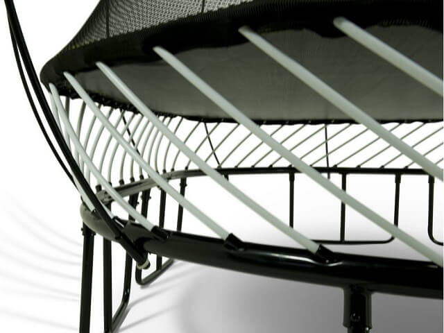 composite rods on springfree trampolines