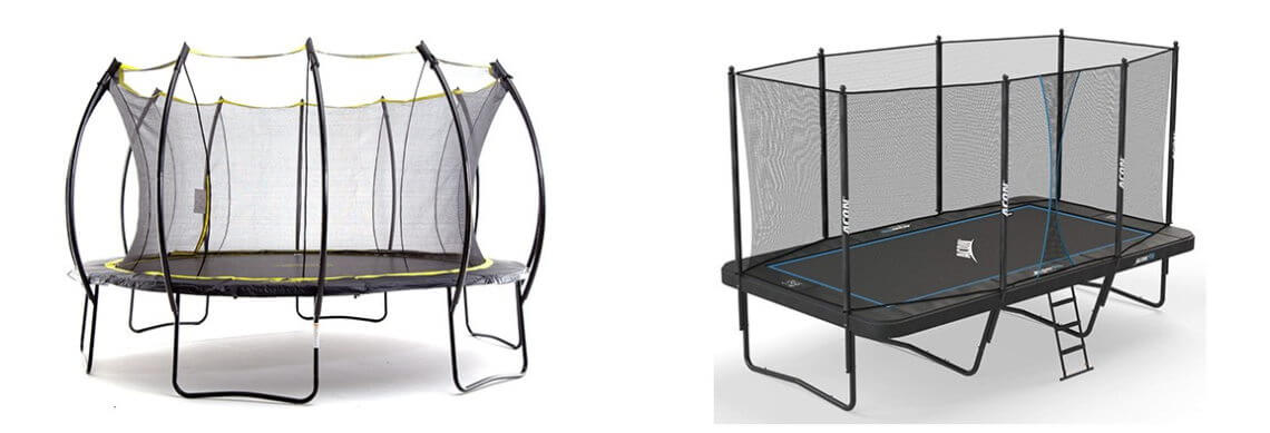 Round vs Rectangle trampolines image